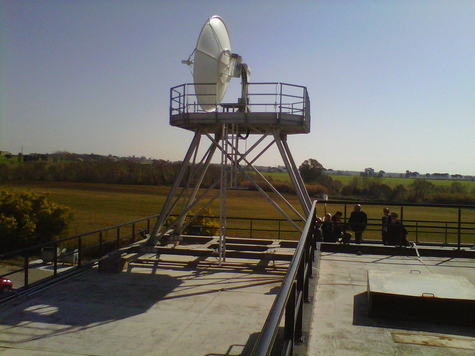 Antenna x dati satellitari-banda X  - CNMCA Pratica di Mare- Teledife